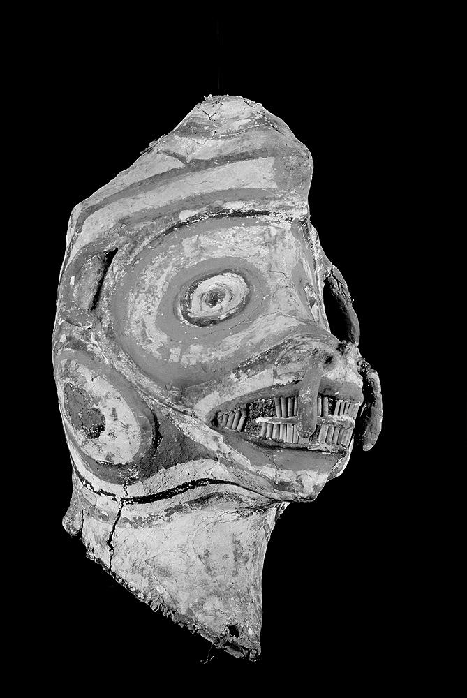Máscara Jurupixuna coletada na Viagem Philosophica de Alexandre Rodrigues Ferreira, em fins do século XVIII. Imagem: © Museu da Ciência da Universidade de Coimbra.